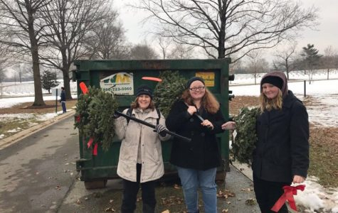 Kenwood High's Social Studies Honor Society Cleans up Wreaths at Arlington National Cemetery