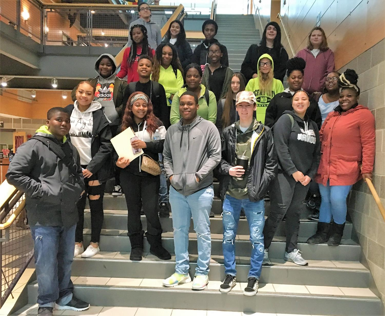 Kenwood Business and Marketing students touring the CCBC campus.
