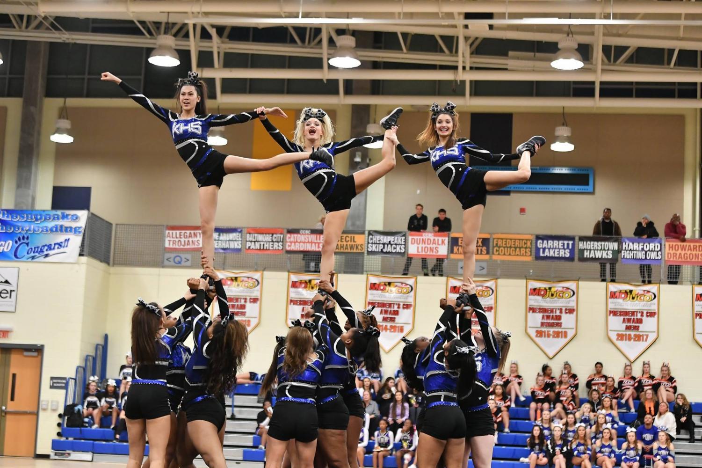 Kenwood Cheerleading at Regionals.