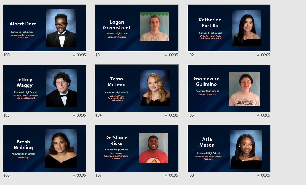 Nine Kenwood Seniors Recognized for Career & Technology Accomplishments