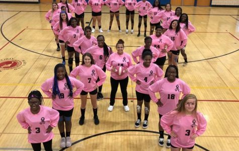 KHS Volleyball honoring Breast Cancer Awareness at their Homecoming game on Oct 11.