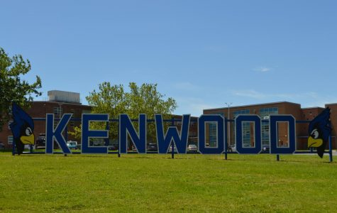The Hollywood style sign Kenwood carpentry built for their campus.