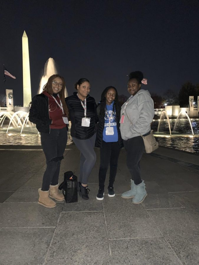 Kenwood SGA leaders in Washington, DC for the National Leadership Conference.