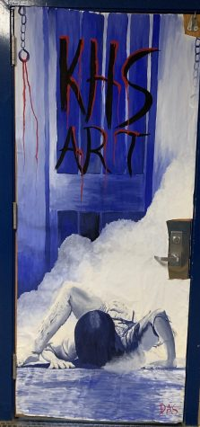 The KHS Art door for the Fall door decorating contest.