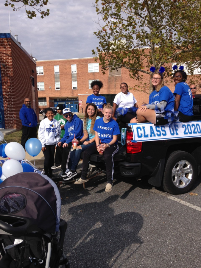 Getting ready for Homecoming Parade 2019