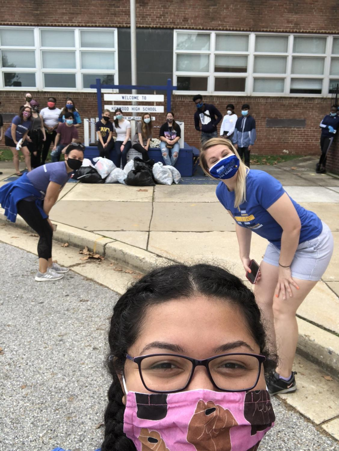 SGA sponsors a campus clean up for students to gather and clean up the campus