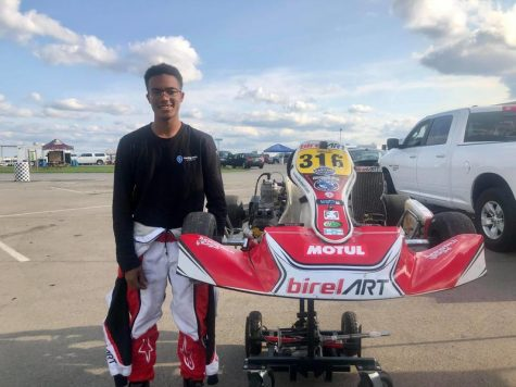 Race car driver Kenwood Senior Jalen Dhanoolal