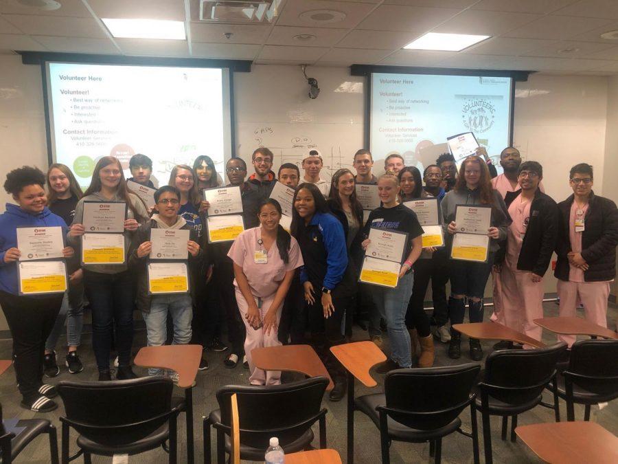 2019-2020 SSA students on their field trip to Shock Trauma last winter.