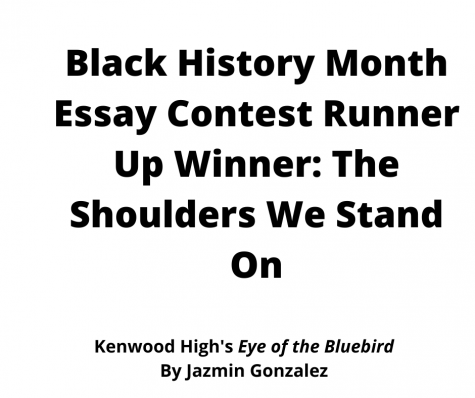 Black History Month Essay Contest Runner Up Winner: The Shoulders We Stand On