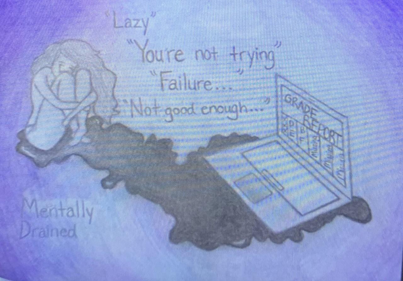 Artwork from freshmen Aniya S.