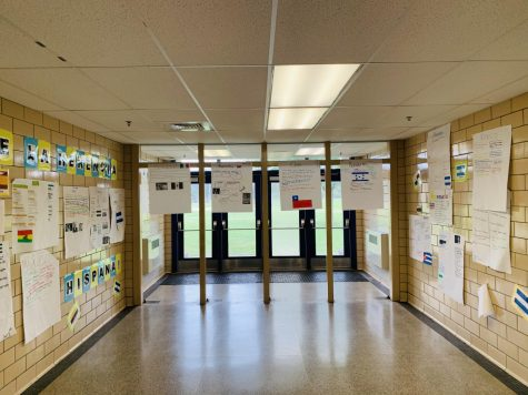 Kenwood Halls decorated by Kenwood students to celebrate Hispanic Heritage Month