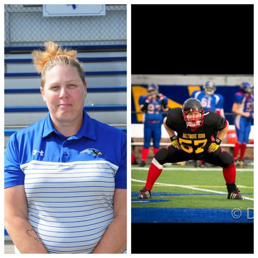 Kenwood Coach Jenn Leaf spent time playing semi pro on the women's full tackle football for a team called Baltimore Burn.