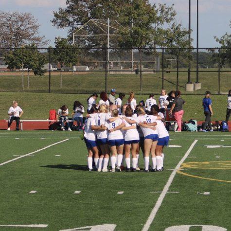 Girls Varsity soccer ready for game day.